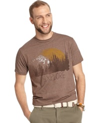 G.H. Bass And Co. Explore Graphic T Shirt Brown