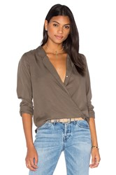 Capulet Cassidy Cross Over Blouse Olive