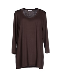 Marella T Shirts Dark Brown