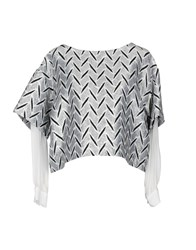 Space Style Concept Blouses Light Grey