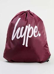 Topman Hype Burgundy Drawstring Bag Red