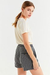 Urban Outfitters Uo City Striped Short Black