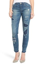 Blanknyc Denim So Called Life Destroyed Skinny Jean Blue