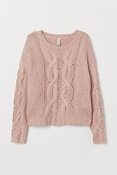 Handm H M Cable Knit Sweater Pink