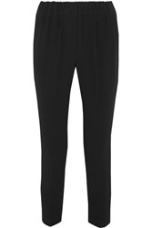 Brunello Cucinelli Crepe Tapered Pants Black