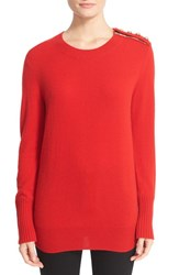 Burberry Women's Meesebrook Cashmere Sweater Parade Red