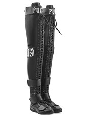 Fenty X Puma By Rihanna Over The Knee Boots With Lace Up Front Black