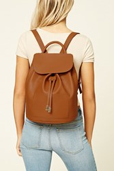 Forever 21 Flap Top Faux Leather Backpack
