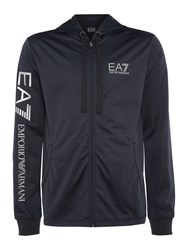 Emporio Armani Men's Ea7 Train Logo Series Zip Through Hooded Jumper Navy