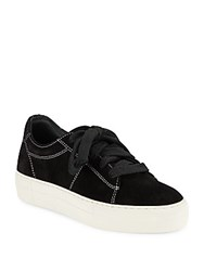 Helmut Lang Leather Lace Up Sneakers Cream