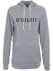 Rodarte Radarte Hooded Sweatshirt Grey