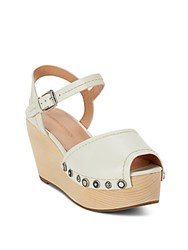 Sigerson Morrison Cailey Leather Wedges White
