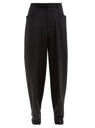 Rick Owens Tailored Wide Leg Trousers Black