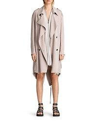 Allsaints Lia Trench Coat Dusty Pink
