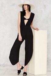 Hot As Hell Michele Hah Bell Plunging Jumpsuit