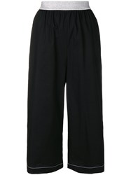 I'm Isola Marras Cropped Wide Leg Trousers Black