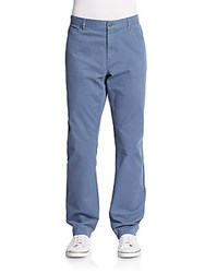 Michael Kors Stretch Cotton Twill Pants Chambray
