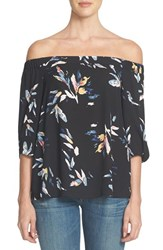 1.State Women's Floral Print Off The Shoulder Blouse