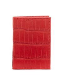 Neiman Marcus Alligator Flip Card Case Red