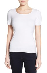 Women's Wolford 'Pure' Stretch Modal Tee White
