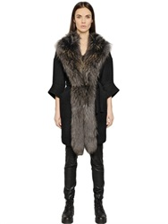 Ava Adore Boiled Wool And Murmasky Fur Coat