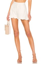 Minkpink Complete Clarity Frill Short White
