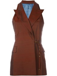 Jean Paul Gaultier Vintage Sleeveless Jacket Red