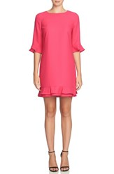 Cece Women's 'Kate' Ruffle Hem Shift Dress Charm Pink