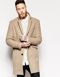Asos Wool Overcoat Lightbrown