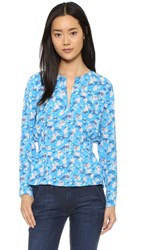 Tanya Taylor Heather Top Cornflower Multi