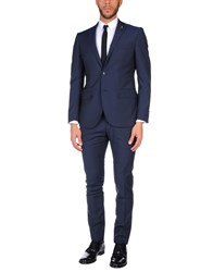 Lubiam Suits Dark Blue