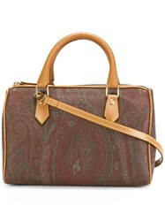 Etro Double Straps Tote Brown