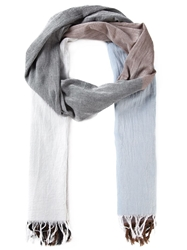 Y's Colour Block Fringed Scarf