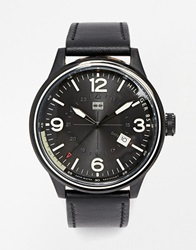 Tommy Hilfiger Peter Leather Strap Watch 1791103 Black