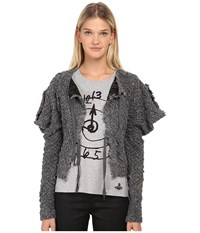 Vivienne Westwood Cropped Titan Cardigan Grey Women's Sweater Gray