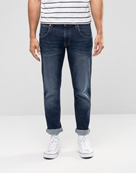 Wrangler Low Rise Slim Leg Jean In Burning Brick Wash Blue