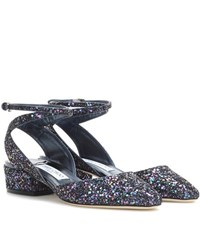 Jimmy Choo Vicky 30 Glitter Pumps Purple