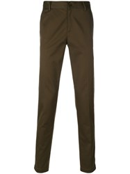 Givenchy Star Detail Tailored Trousers Men Cotton 52 Green