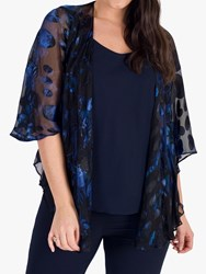 Chesca Abstract Spot Shawl Midnight