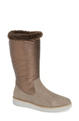 Johnston And Murphy Paula Convertible Boot Taupe Suede