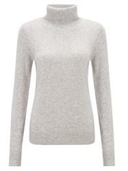 John Lewis Cashmere Roll Neck Jumper Grey