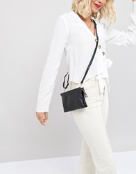 Oasis Leather Cross Body Bag In Black