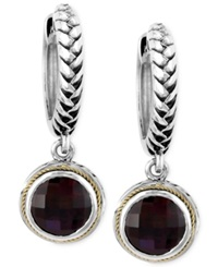 Effy Collection Balissima By Effy Garnet Drop Earrings 4 3 4 Ct. T.W. In Sterling Silver And 18K Gold