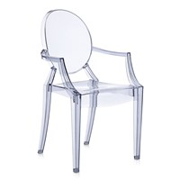 Kartell Louis Ghost Armchair Ice Blue
