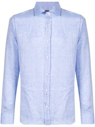 Massimo Piombo Mp Button Down Shirt Blue