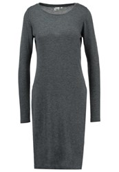 Object Objanna Jumper Dark Grey Melange Mottled Dark Grey