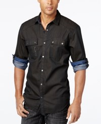 Inc International Concepts Men's Banquo Multi Pocket Long Sleeve Shirt Only At Macy's Wren
