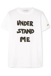 Bella Freud Understand Me Printed Cotton Jersey T Shirt White