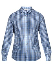 Acne Studios Isherwood Gingham Cotton Shirt Blue