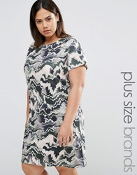 Pink Clove Camo Print Tshirt Dress Multi